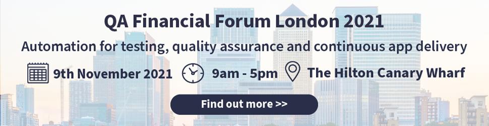 The QA Financial Forum London 2021